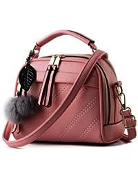 New Pu Leather Women Leather Handbag Hairball Women Messenger Bags Pouch Shoulder Crossbody Bags - B07B26DQKR