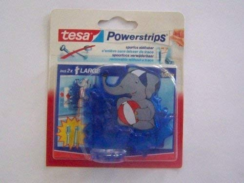 Tesa 58083-00001 Powerstrips Zahnbürstenhalter Elephant, inclusiv 2 Strips