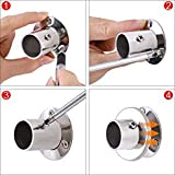 Fasware 4 pcs Steel Socket Bracket Closet Rod Holder End Support for Closet Wardrobe Shower Curtain Rod