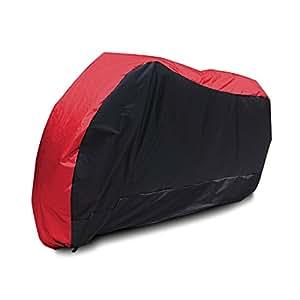 Housse Bache MOTO Couvre-Moto scooter Taille XL 245cm Rouge Noir impermeable