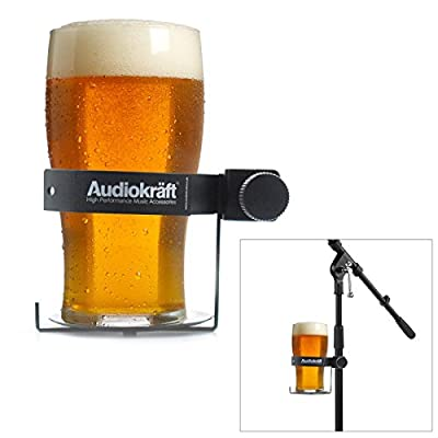 AudioKraft DH1 - Drum / Microphone Stand Drinks Holder for Glasses & Bottles
