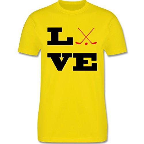 Eishockey - Eishockey Love - Herren Premium T-Shirt Lemon Gelb