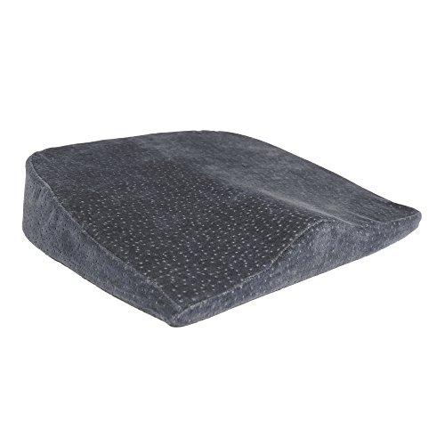 Sanolind® Orthopädisches Druckentlastungskissen für Bandscheiben, Rücken, Steißbein, ermöglicht aufrechtes und schmerzlinderndes Sitzen. Keilkissen, Sitzkissen für Auto, Büro, Reha, ( grau )