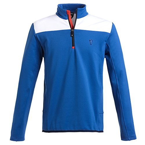 golfino-sweater-wind-techno-fleece-pour-homme-en-regular-fit-bleu-xl