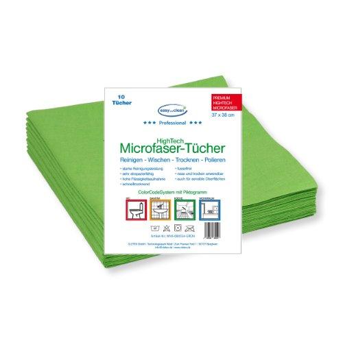 profi-microfaser-tuch-spun-grun-10er-pack-37-x-38-cm-piktogramm-kuche-ideal-fur-die-pflege-und-reini