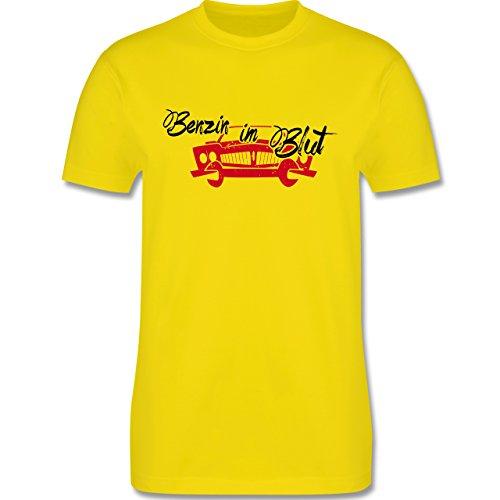 Statement Shirts - Benzin im Blut - Auto - Herren Premium T-Shirt Lemon Gelb