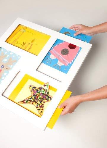 Articulate Gallery Vierfacher Bilderrahmen A4 aus MDF, Weiß