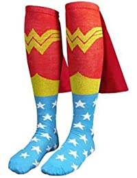 DC Wonder Woman Cape Red Jrs Knee High Socks