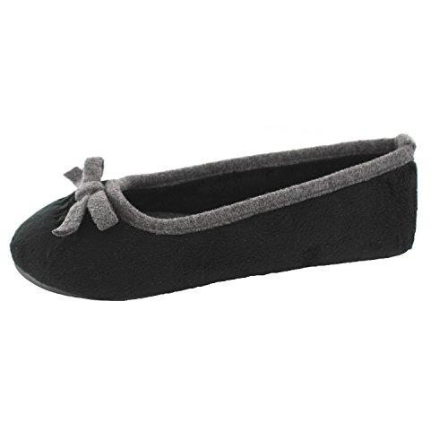 ESPRIT Ellis Ballerina 096EK1W055001 Donna Pantofole, Nero 37 EU