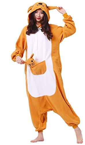 Unisexe Adulte Animal Cosplay Kigurumi Pyjama ,kangourou ,Medium