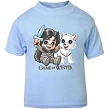 Juego de Tronos Juego de invierno – Camiseta de manga corta para bebé divertido novedad bebé