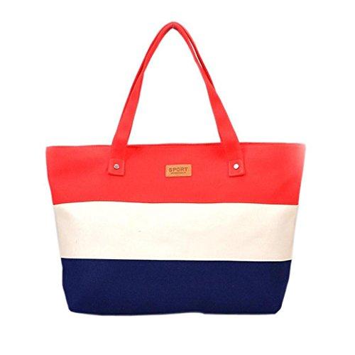 Borse donne moda,♚meibax♚donne tela borse spalla messenger borse donne messenger borse tracolla tote grandi borse borse a spalla borsa da viaggio borsa da spiaggia borsa a tracolla (rosso)
