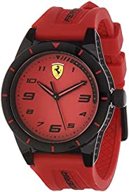 Scuderia Ferrari Unisex-Child Red Dial Red Silicone Watch - 860008
