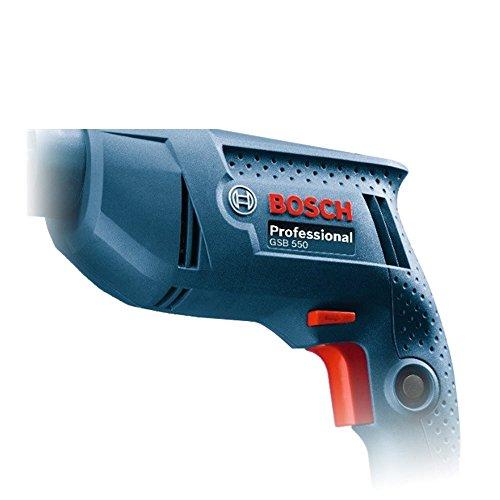 Bosch Electrician Kit GSB 550-Watt Impact Drill Kit (Blue, 77-Pieces)