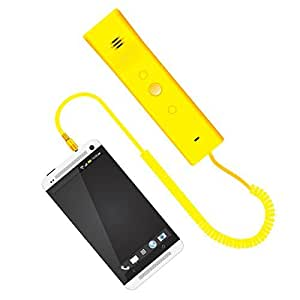 Portronics Phoni 3 POR-909 Retro Handset - Yellow