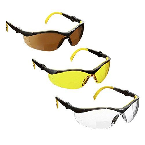 3 x voltX GT Adjustable Bifokale Lesen Schutzbrille (+2.5 Dioptrie Klar,  Gelb   d1495c1cc72d