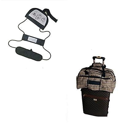 Travel Bag Bungee, Adjustable Elastic Luggage Straps, Travel Supply-2 year warranty (Black)