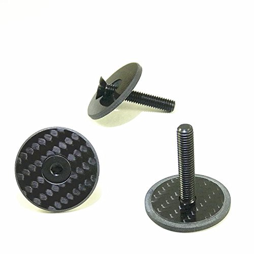 top A-Head Carbon Vorbau Steuersatz Kappe 1 1/8 zoll mit Titanschraube Glossy (Glossy)