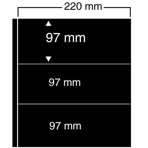 10X Safe 453NERO fogli uno teckblaetter Compact Din A4-CON 3strisce 86X 220mm in vetro trasparente-per (Grande Binder)