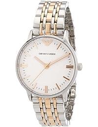 Emporio Armani AR1603 - Reloj analógico de cuarzo para mujer con correa de acero inoxidable bañado, color multicolor