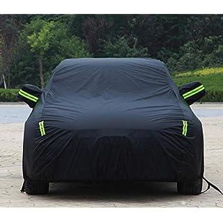 Ford Motor Multicolor Car Jersey Wasserdichte UV-Isolierung Autokleidung Sicherheitsschloss Car Cover (Schwarz, Silber, Blau) (Farbe : SCHWARZ, größe : Ford Mustang)