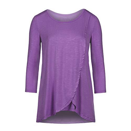 Zhhlaixing Damen Maternity Nursing Stillen Tops Umstandsmode - Ladies Casual Loose Schwangerschafts T Shirt Schwanger Top Langarmshirt