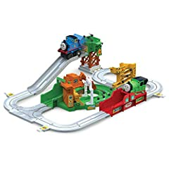 Idea Regalo - Thomas & Friends Big Loader T14000 Sodor island delivery set, Trenino Thomas Consegna a Sodor, pista locomotiva motorizzata