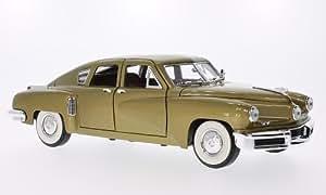 Tucker Torpedo, doré, 1948, voiture miniature, Miniature déjà montée, Lucky - Cast 1:18