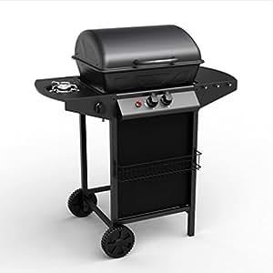 Concept-Usine APACHE: Barbecue a gaz. 2 brûleurs, plus brûleur latéral.