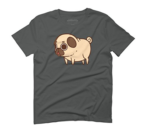Puglie Pug Men's Graphic T-Shirt - Design By Humans Anthracite