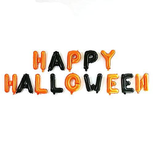 Hemore Dekorativer Ballon, Buchstabenspiel, Halloween, 16 Zoll, Orange, 1 Set für die Dekoration von Hochzeiten, Geburtstag, Party, Abendveranstaltungen