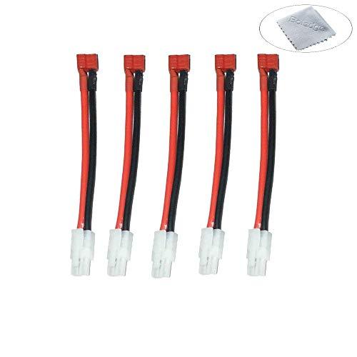 Boladge 5 pcs Deans T Plug Femelle à Mâle Tamiya Connecteur Câble Tamiya Connecteur Adaptateur 16AWG Airsoft Gun Batterie Adaptateur De Charge