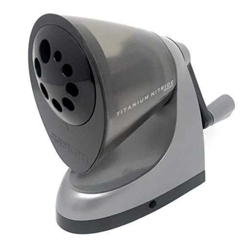 Westcott–ipoint classact manuale desktop temperamatite–antibatterico–titanium bonded blades