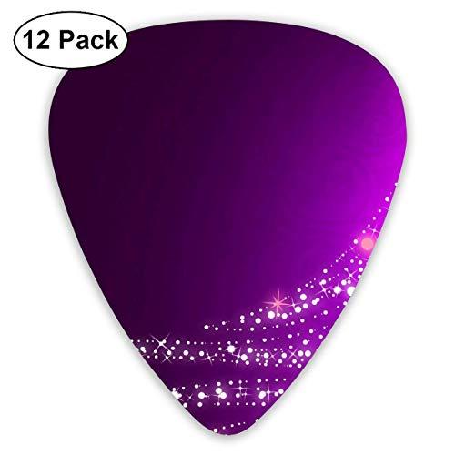 Purple Flash Christmas Tree Guitar Picks - 12 pack,0.46/0.73/0.96 Mm Guitar