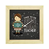 YaYa CafeTM Teachers Day Gifts, 6 x 6 inches Desk Clock Thank You