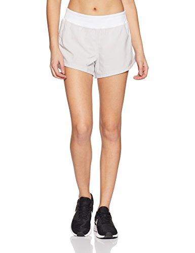 Under Armour Damen Stretch Woven Short, Damen, Grau/Weiß, Large -
