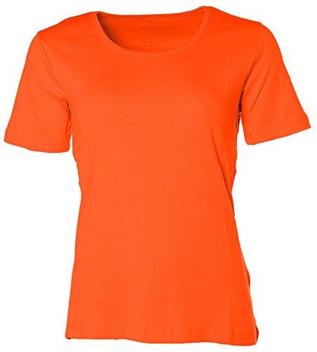 Kitaro -  T-shirt - Collo a U  - Maniche a 3/4 - Donna Arancione