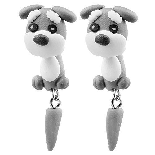 Figuren 3D Manga Hänge Ohrstecker Cosplay Ohrringe Hund Hase Katze (Bunny Kostüm Katze)