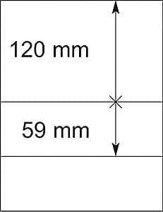 Lindner 802206 Feuilles neutres LINDNER-T - à l'unité