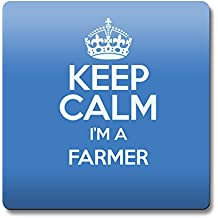 Azul Keep Calm I 'm un granjero posavasos Color 3275