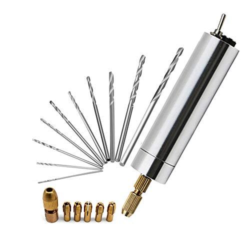 AiYoYo Mini Handbohrer Elektrisch Bohrmaschine mit Spiralbohrer 1.0-3.0mm Bohrschrauber Set
