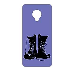 Vibhar Premium Printed Matte Designer Back Case Cover for Micromax Nitro 4G E455 - Black Boots