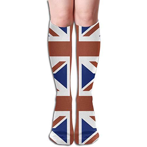 Xdevrbk Unisex UK Flat Casual Athletic Running Long Socks Novelty Knee High Sock