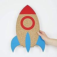 Rocket Cork Board - Rocket Memoboard - Rocket Decoration - Kids Bedroom - Teenager Bedroom - Gift for Kids - Kids Corkboard - Kids Memoboard