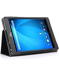 Odys Sky Plus 3G Cuir Sac Boîte Étui en cuir Manteau Couverture Enveloppe de protection en noir avec fonction de rester debout