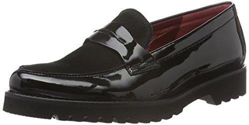 Gabor Shoes Comfort Sport, Mocassini Donna, Nero (Schwfu Rot/S.S/s), 40 EU
