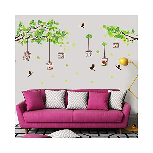 ch Birdcage Fototapete |Enthält Aufkleber Cartoon Wallpaper Geeignet für Kinderzimmer Wohnzimmer Dress Up Family 60 * 90CM (Farbe : Grün) ()