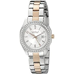 Caravelle New York Women's 45M108 Analog Display Quartz Two Tone Watch