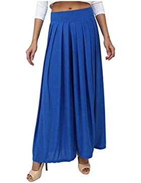 Indian Handicrfats Export Dolce Divaa Flared Women's Blue Trousers