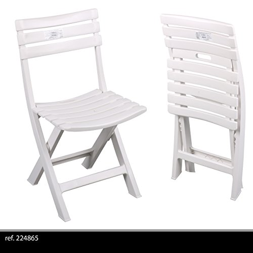 Ipae 9693650 sedie birreria, resina, bianco
